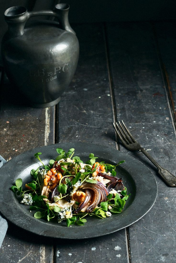 From The Kitchen: Winter Chicken/Turkey Salad with blue cheese, candied walnuts, and walnut oil vinaigrette