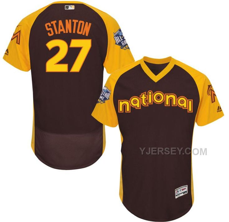 ONLINE MARLINS 27 GIANCARLO STANTON BROWN 2016 ALL-STAR GAME COOL BASE BATTING PRACTICE PLAYER JERSEY, Only$40.00 , Free Shipping! http://www.yjersey.com/online-marlins-27-giancarlo-stanton-brown-2016-allstar-game-cool-base-batting-practice-player-jersey.html
