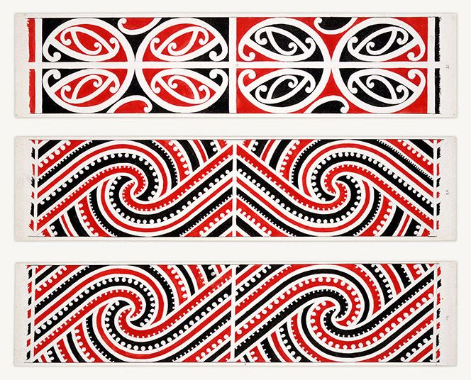 Maori Rafter Designs Nos. 19-20-21 by Herbert Williams (1860-1937) - www.imagevault.co.nz