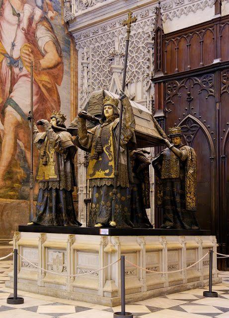 Christopher Columbus's Tomb in Seville, Spain