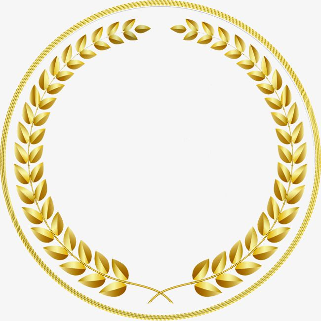 Gold Circular Border Gold Frame Circular Fringe Creative