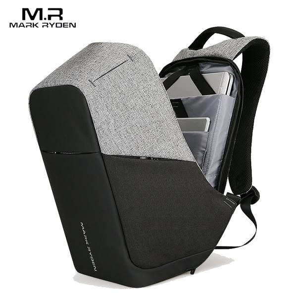 Modern anti theft, futuristic design backpack! USB charging port! Fits 15.6 Inch Laptop! Don't worry about the rainy days it's water repellent!