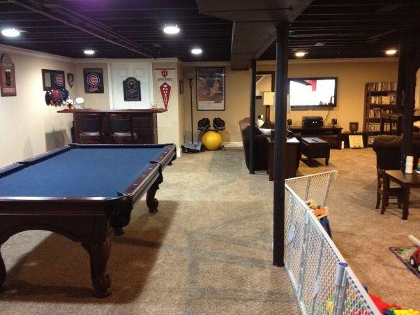 unfinished basement ceiling ideas   Loft-Like Basement - Basement Designs - Decorating Ideas - HGTV Rate ...