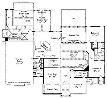 Keeping room french country house plans and french for House plans with keeping rooms