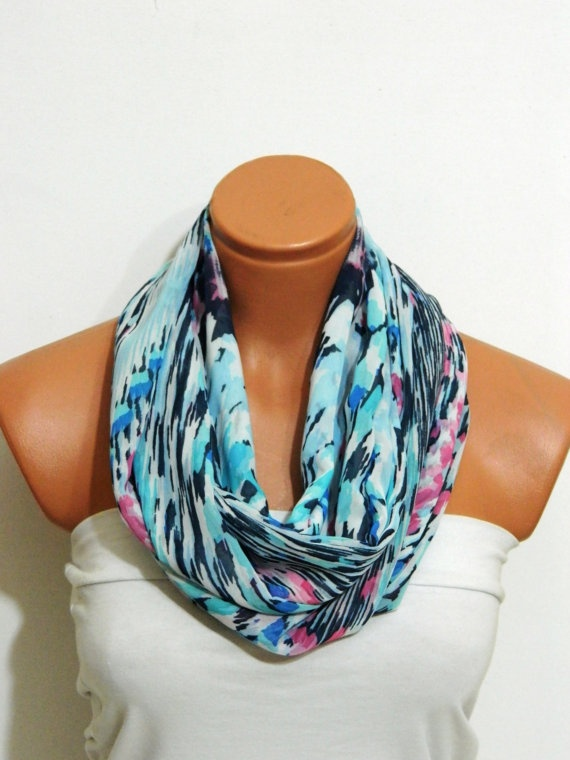 Aztec ScarfInfinity Scarf shades of and by WomanStyleShop on Etsy, $18.00