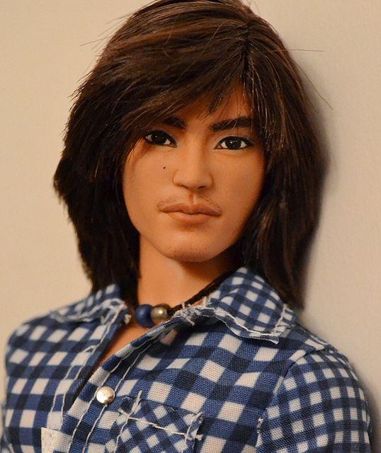 fuckyeahdollsofcolor:  Zhang Jie- Asian Ken/ Barbie Basics #15 Repaint by G X on Flickr. [Barbie Basics Ken doll by Mattel w/custom faceup. —MOD  I really wish Mattel would do an Asian Ken.