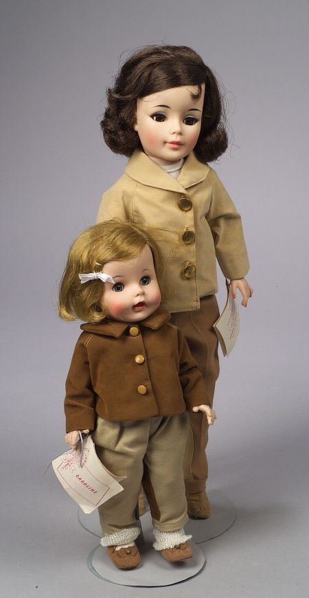 Madame Alexander Jacqueline and Caroline Kennedy Dolls 1962