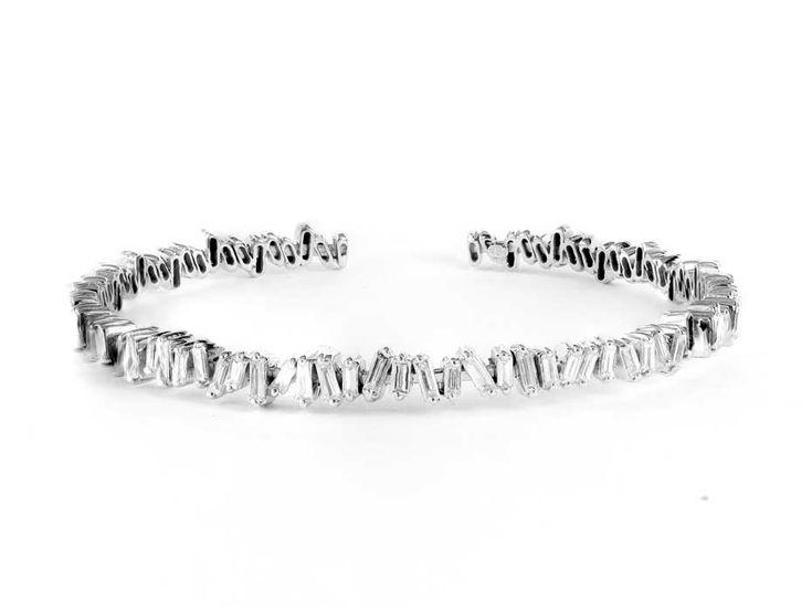 Suzanne Kalan baguette diamond bangle