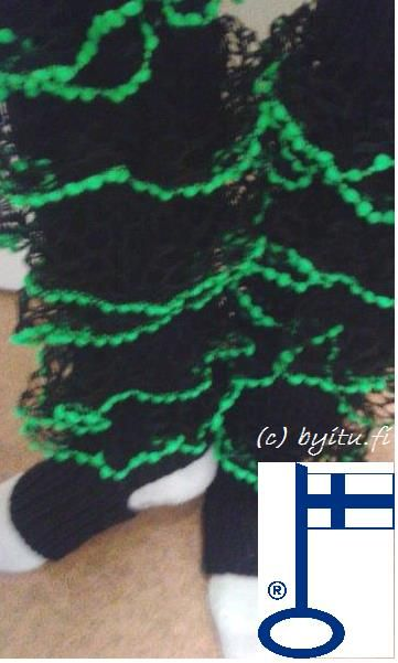 Ritva-säärystimet Salsa Musta-neon vihreä