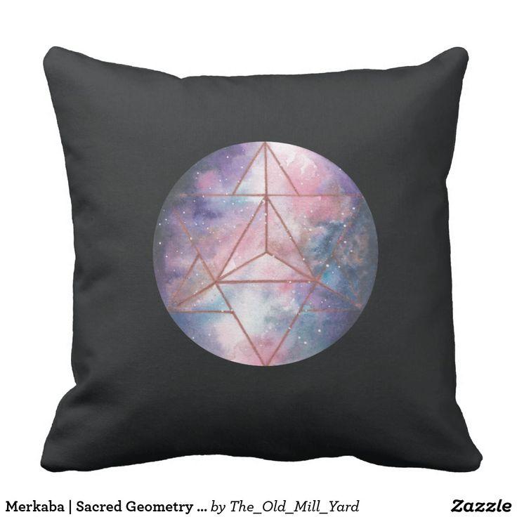 Merkaba | Sacred Geometry Throw Pillow | Home Decor  by Kari Weatherbee