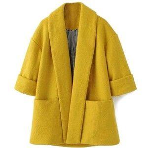Shawl Collar Open Kimono Coat