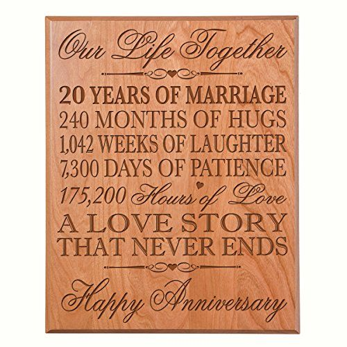 20th Wedding Anniversary Wall Plaque Gifts for Couple 20th Anniversary Gifts for Her Gifts for Him Special Dates to Remember 12 W X 15 H Wall Plaque By Dayspring Milestones (Cherry Solid Wood) Review