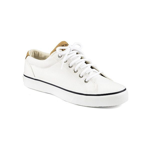 Sperry Striper LTT Sneakers & Athletic Shoes ($60) ❤ liked on Polyvore featuring men's fashion, men's shoes, men's sneakers, white, mens white sneakers, mens white shoes, mens oxford shoes, sperry mens shoes and mens white oxford shoes