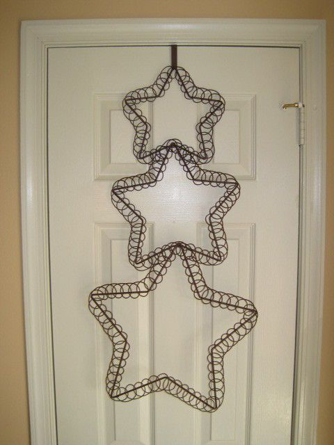 Pottery barn star holiday card holder door decoration for Door xmas card holders