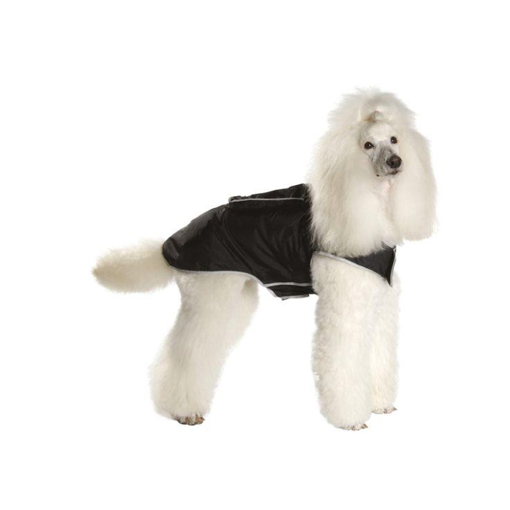 IMPERMEABLE DE BOLSILLO XL, Es un impermeable para perro de color negro, especialmente dedicado a los perros de raza grande. http://bit.ly/1Rw1nzZ