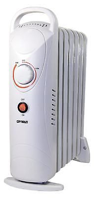 Portable Oil Filled Radiator Heater Thermostat Room Radiant Mini 700w Home Heat