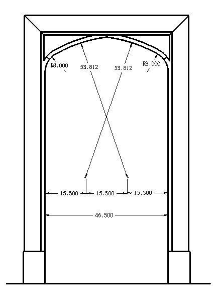 pubic arch diagram tudor arch dimensions | tudor architecture | pinterest ... door arch diagram