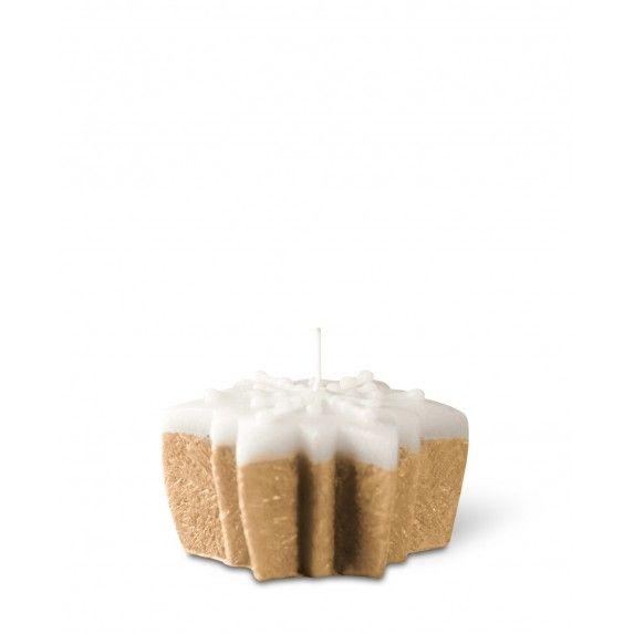 Bougie parfumée gâteau étoile 6,8cm biscuit