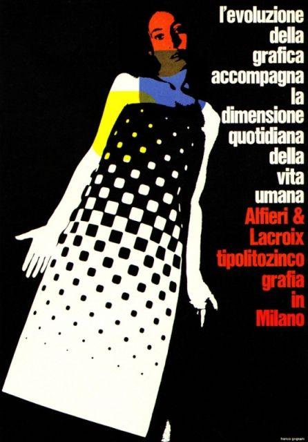 Franci Grignani Illustration. Ad for an Italian printer, Alfieri & Lacroix.