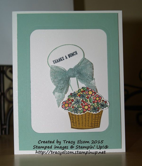 """Sprinkles of Life stamp set, 1"""" Dotted Lace Trim and 2015-2017 In Colors from the Stampin' Up! 2015/2016 Annual Catalogue."""