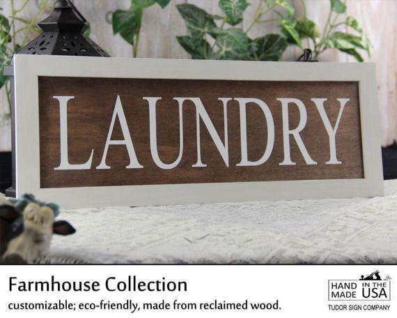 Rustic Laundry Room Sign Shiplap Sign Magnolia by TudorSignCompany