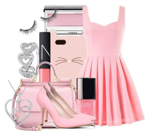 """""""Pink Date"""" by drinkdionysus ❤ liked on Polyvore"""