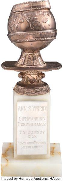 "Movie/TV Memorabilia:Awards, An Ann Sothern Golden Globe Award for ""The Ann Sothern Show,""1958...."