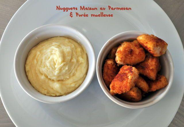 Découvrez la recette Nuggets maison au parmesan et purée moelleuse sur cuisineactuelle.fr.