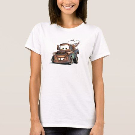 Tow Truck Mater Smiling Disney T-Shirt - click to get yours right now!