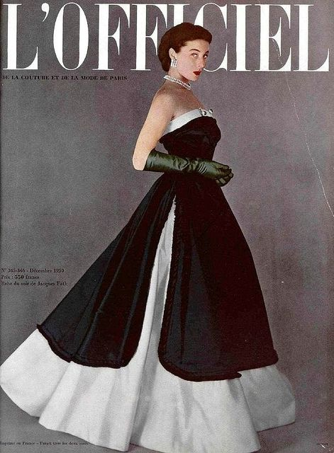 Wearing Jacques Fath 1950 by dovima_is_devine_II, via Flickr