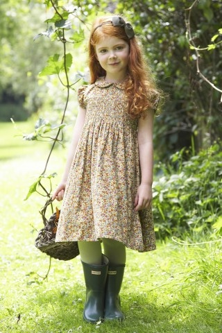 Charming vintage 'Iris' dress in ' Autumn Posy' by Lulu and Flo