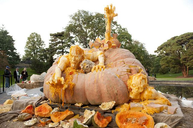 Ray Villafane's pumpkin sculpture by NYBG, via Flickr