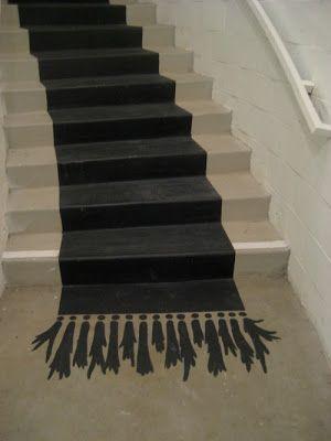 pintar una alfombra en la escalera