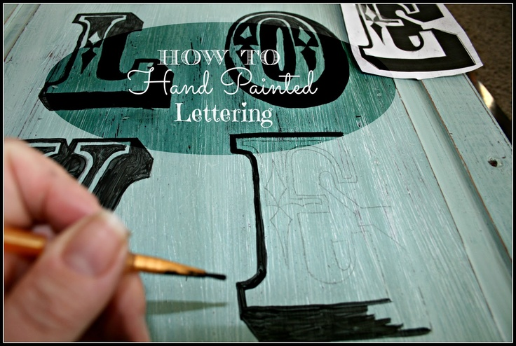 How to Hand Painted Lettering Colors Mixed Together