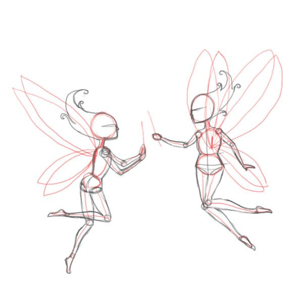how to draw a realistic fairy | How to draw fairies (part 2)
