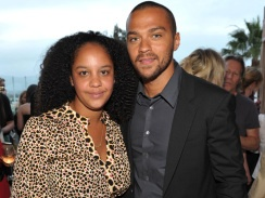 Jesse Williams and his wife, Aryn Drake-Lee (they got hitched in September of this year)