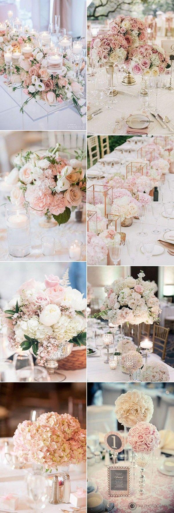 Great Trending Rouge Pink Wedding Centerpieces