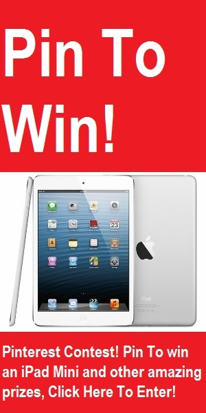 Holiday Season Giveaway! Pin to Win an iPad Mini and other amazing prizes! Click to go to the entry page.