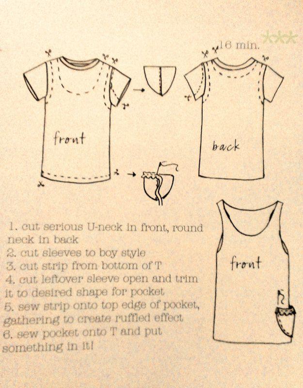 DIY Upcycled T-shirt!