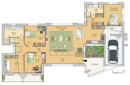 23 best images about plans maison on Pinterest - plan maison france confort