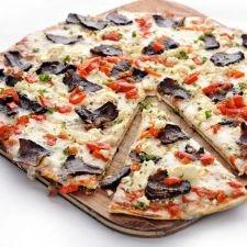 Van Der Merwe pizza - biltong, peppadews & feta