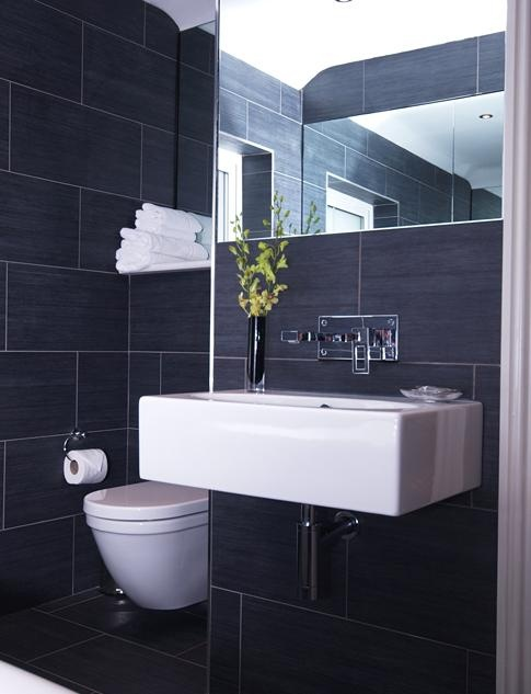 Love this grey bathroom. Simplicity at it's best.