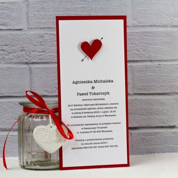 Handmade heart wedding invitations