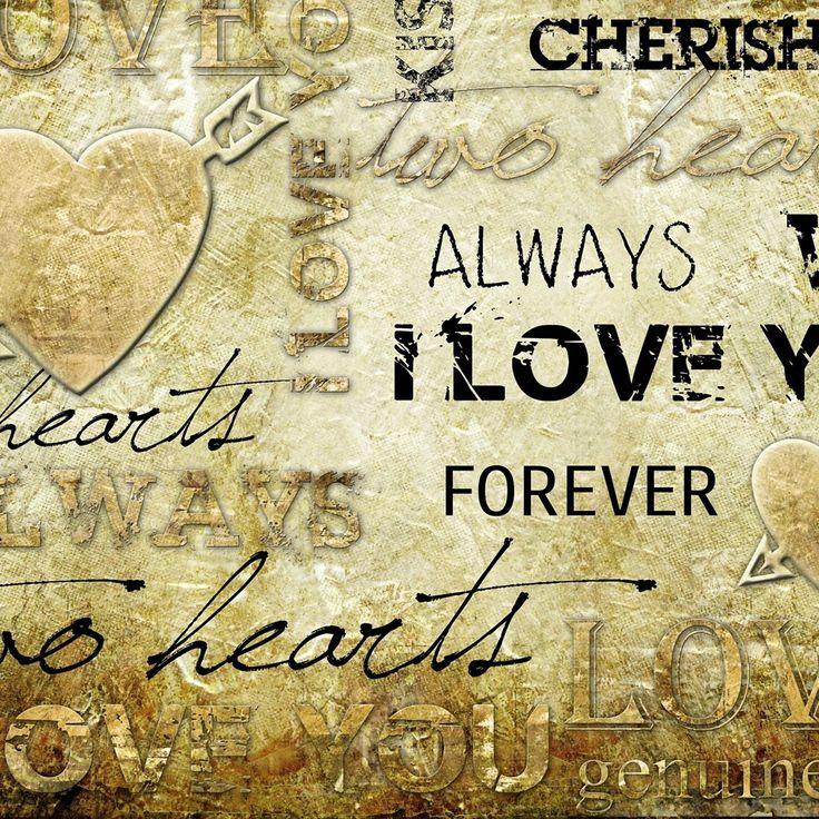 Vintage love words