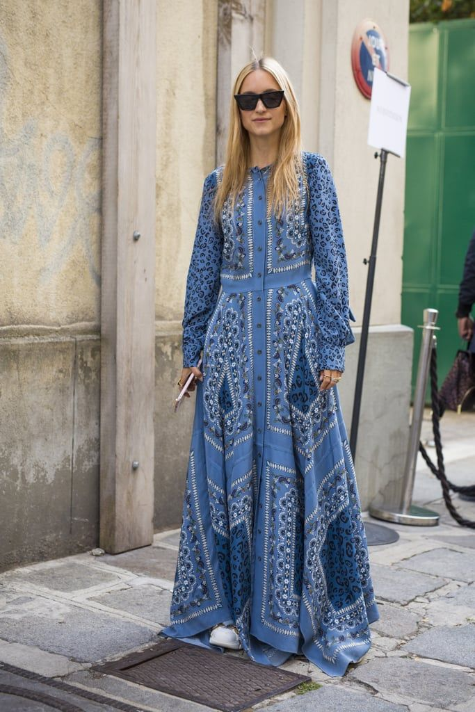 This Is How You Should Be Styling Your Maxi Dress This Season According To Street Style Stars Maxi Dress Wedding Guest Outfit Guest Outfit
