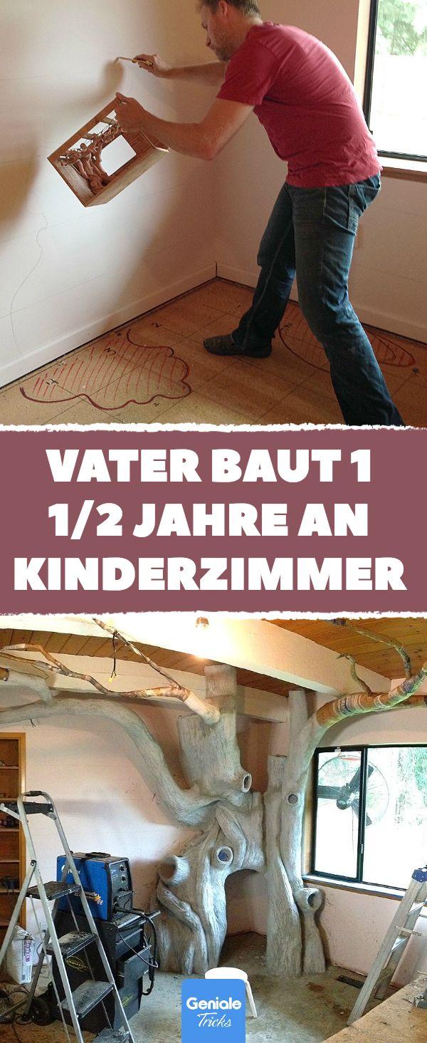 """Wir stellen vor: den Kandidaten für den diesjährigen """"Vater des Jahres""""-Preis! #genialetricks #baumhaus #familie #vater #tochter #kinderzimmer #renovieren #diy #selbstgemacht #fantasie #bunt #fröhlich #märchen #liebe #bauen #handwerken"""