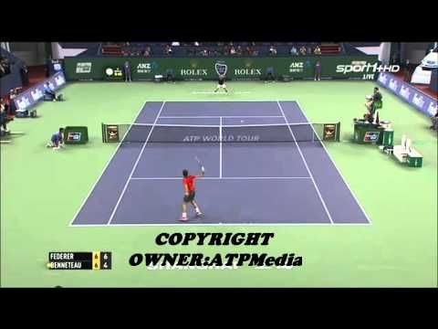 Hot Shot Roger Federer vs Julien Benneteau Shanghai 2014 (vidéo) - http://www.actusports.fr/120965/hot-shot-roger-federer-vs-julien-benneteau-shanghai-2014-video/