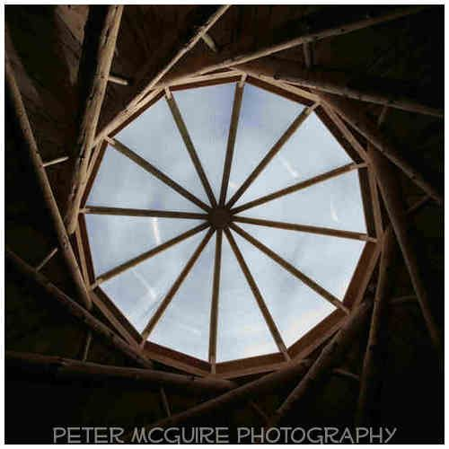 The Wood Hall Reciprocal Roof at Hill Holt Wood