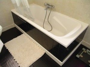 peinture carrelage salle de bain. peinture acrylique satin et enduit décoratif