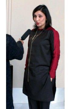 Short kurta - tunic:  The Luxury Label's Claret Collection for #indianofficewear #indianworkwear #Indianofficefashion #indianformals